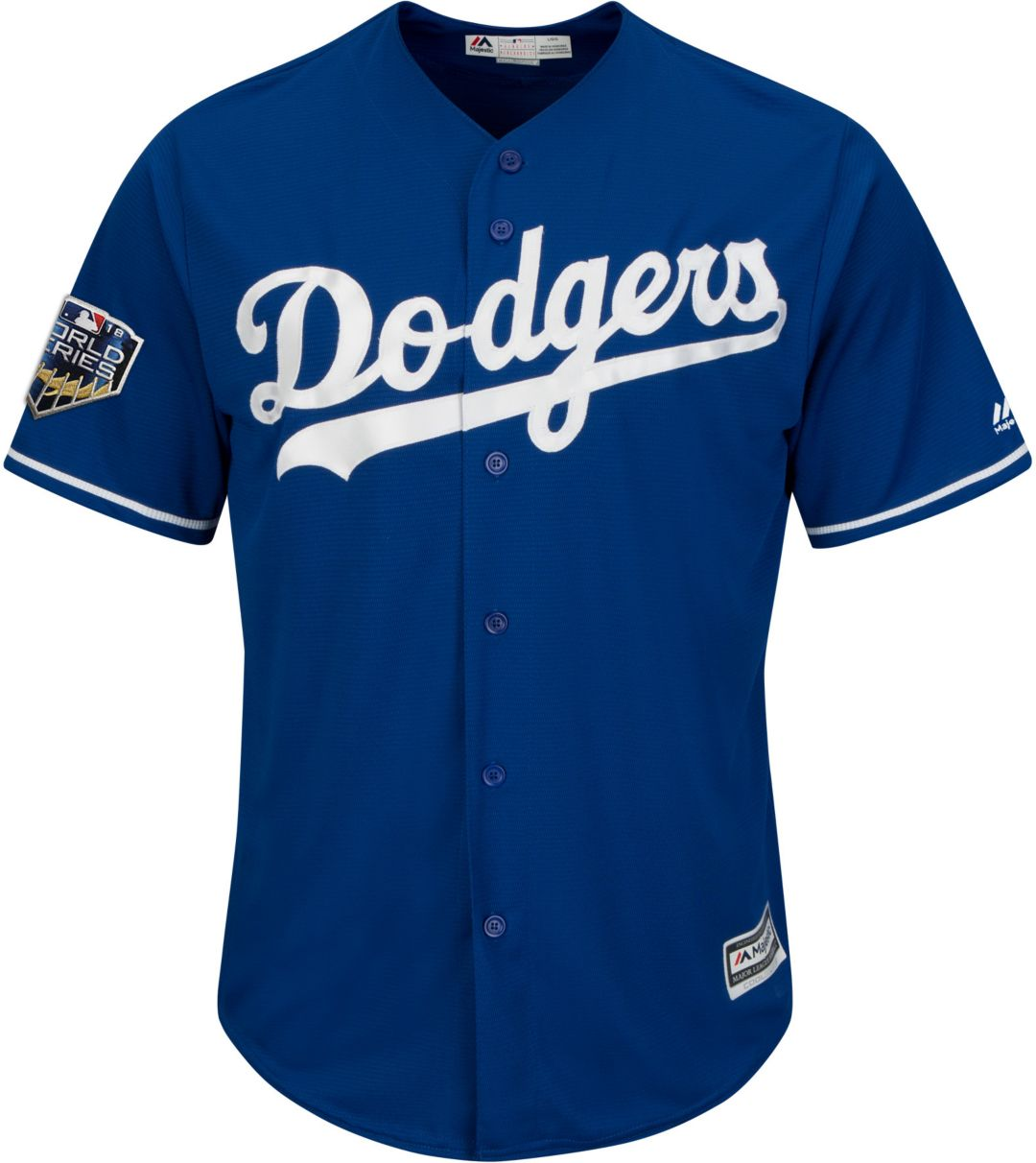 differently f881f 77ef3 Majestic Men's 2018 World Series Replica Los Angeles Dodgers Cody Bellinger  Cool Base Alternate Royal Jersey