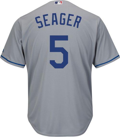 Majestic Men s Replica Los Angeles Dodgers Corey Seager  5 Cool Base ... bcd0d996f7e