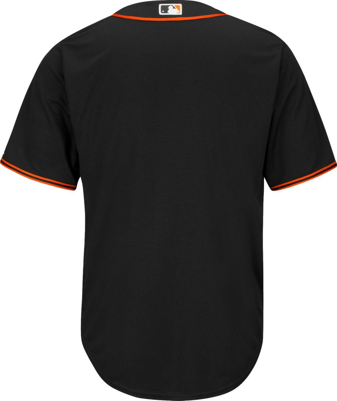 buy online 716e0 c0283 Majestic Men's Replica San Francisco Giants Cool Base Alternate Black Jersey