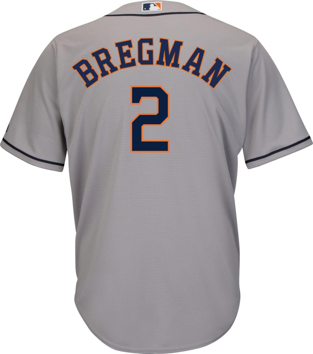 7ebf84576be Majestic Men's Replica Houston Astros Alex Bregman #2 Cool Base Road Grey  Jersey 3