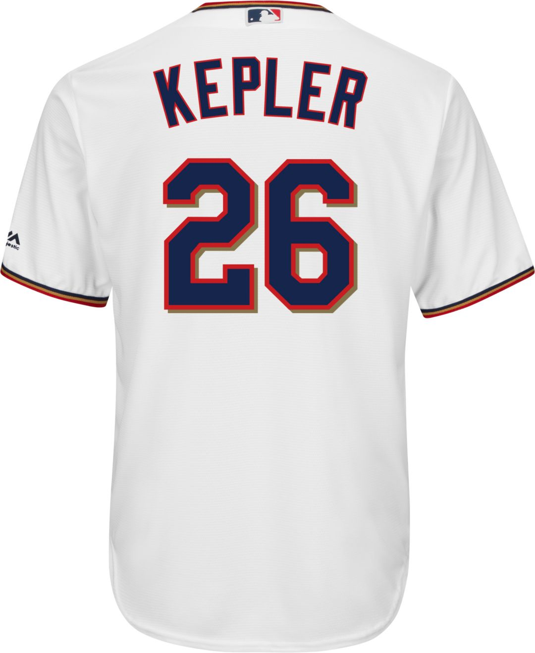 wholesale dealer 41c22 ab402 Majestic Men's Replica Minnesota Twins Max Kepler #26 Cool Base Home White  Jersey