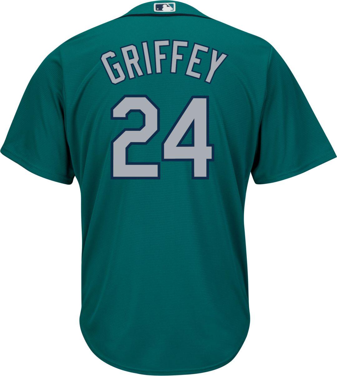 341d92124e Majestic Men's Replica Seattle Mariners Ken Griffey Jr. #24 Cool Base  Alternate Teal Jersey