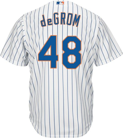 3e2a06d31 Majestic Men s Replica New York Mets Jacob deGrom  48 Cool Base Home White  Jersey. noImageFound. Previous. 1. 2. 3