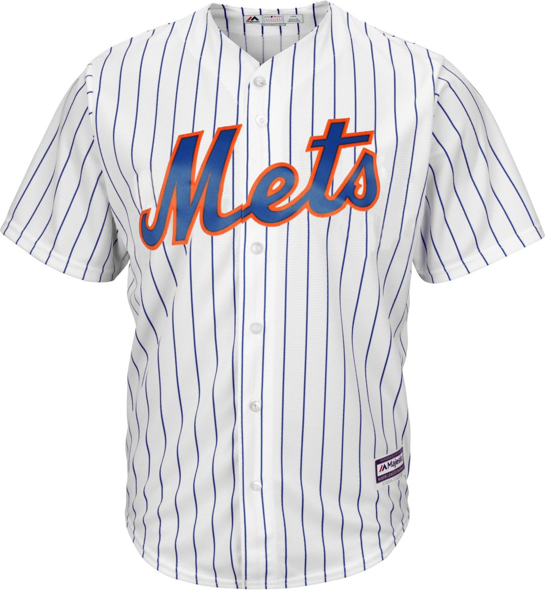 new arrivals 4d9a8 14145 Majestic Men's Replica New York Mets Jacob deGrom #48 Cool Base Home White  Jersey