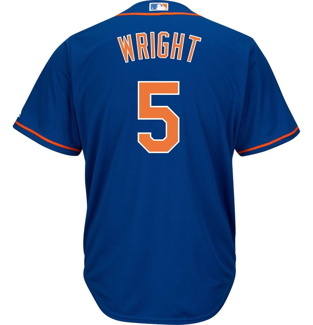 super popular ee0b3 3a34f Majestic Men's Replica New York Mets David Wright #5 Cool Base Alternate  Home Royal Jersey