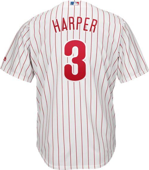 488a720b4 Majestic Men s Replica Philadelphia Phillies Bryce Harper  3 Cool Base Home White  Jersey. noImageFound. Previous. 1. 2. 3