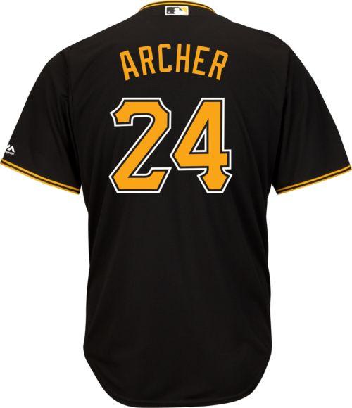 a6cbdd909 Majestic Men s Replica Pittsburgh Pirates Chris Archer  24 Cool Base ...