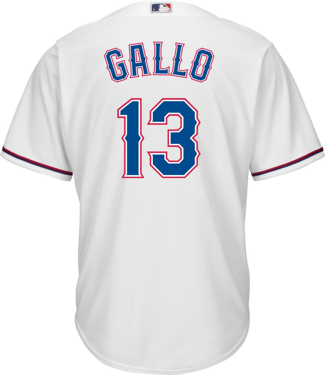 new styles 4aa60 51afa Majestic Men's Replica Texas Rangers Joey Gallo #13 Cool Base Home White  Jersey