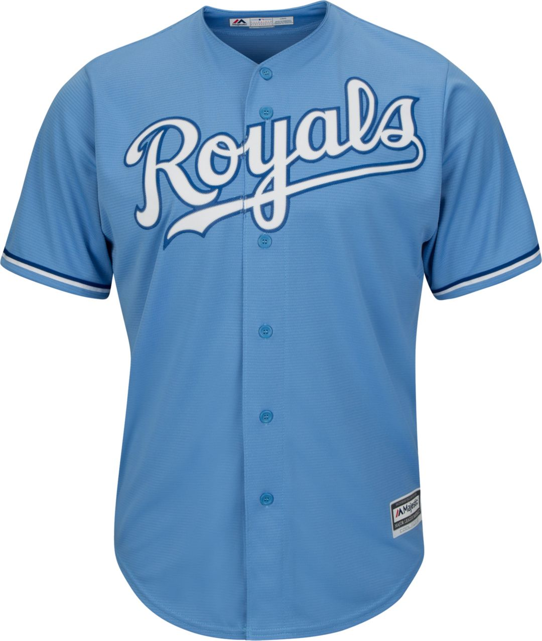 12862695 Majestic Men's Replica Kansas City Royals Salvador Perez #13 Cool Base  Alternate Light Blue Jersey