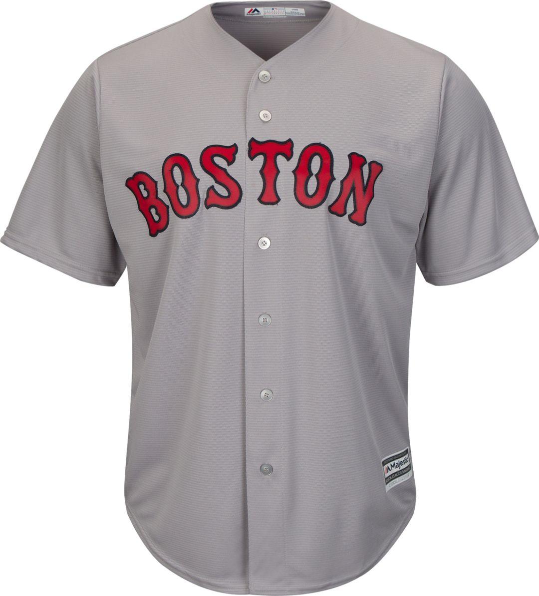 cd69abb5f756f Majestic Men's Replica Boston Red Sox Andrew Benintendi #16 Cool Base Road  Grey Jersey