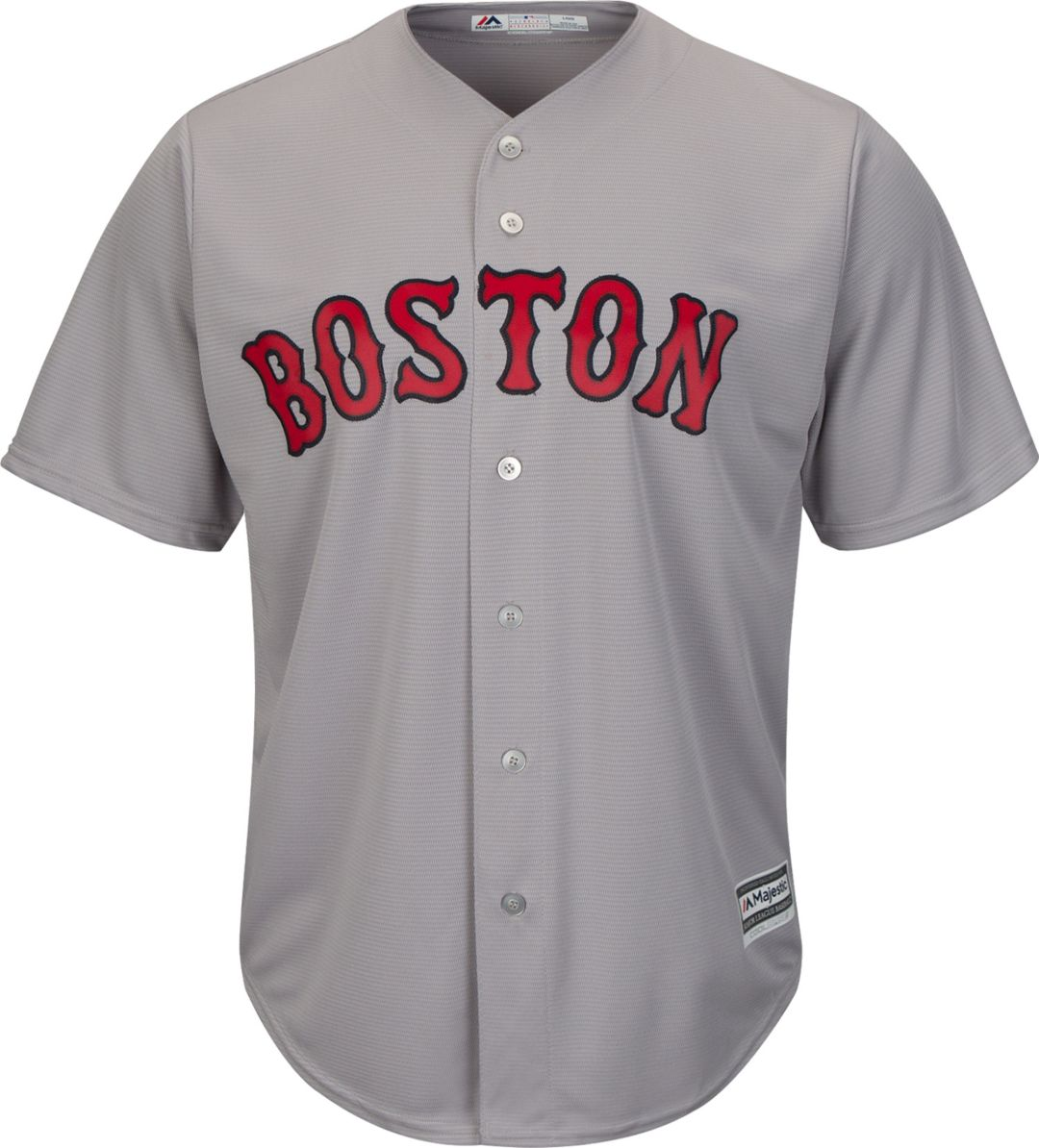 low priced 80b4f 30e1f Majestic Men's Replica Boston Red Sox David Ortiz #34 Cool Base Road Grey  Jersey