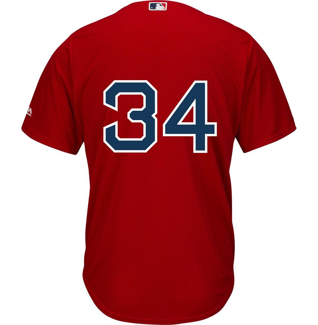 reputable site 27180 25d56 Majestic Men's Replica Boston Red Sox David Ortiz #34 Cool Base Alternate  Red Jersey