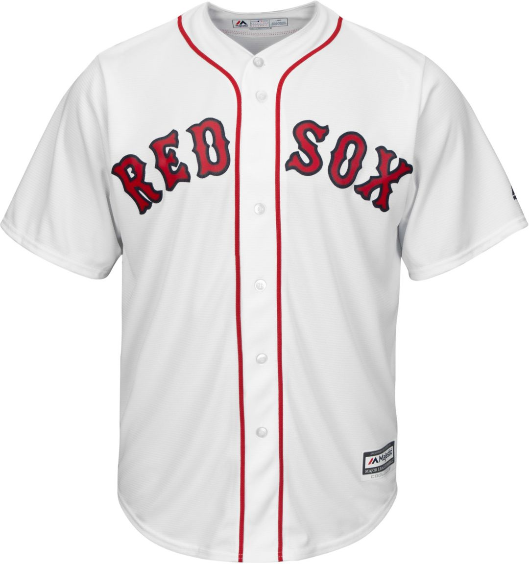 wholesale dealer 662c9 91db0 Majestic Men's Replica Boston Red Sox Mookie Betts #50 Cool Base Home White  Jersey