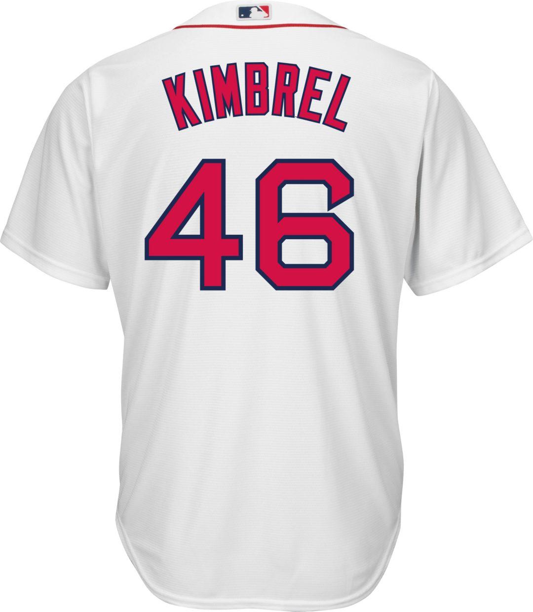 promo code fb7c6 7d9ee Majestic Men's Replica Boston Red Sox Craig Kimbrel #46 Cool Base Home  White Jersey