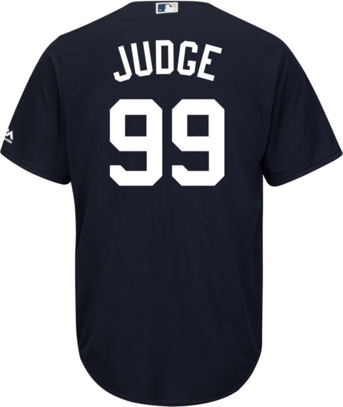 super cute 9d135 35d66 Majestic Men's Replica New York Yankees Aaron Judge #99 Cool Base Alternate  Navy Jersey