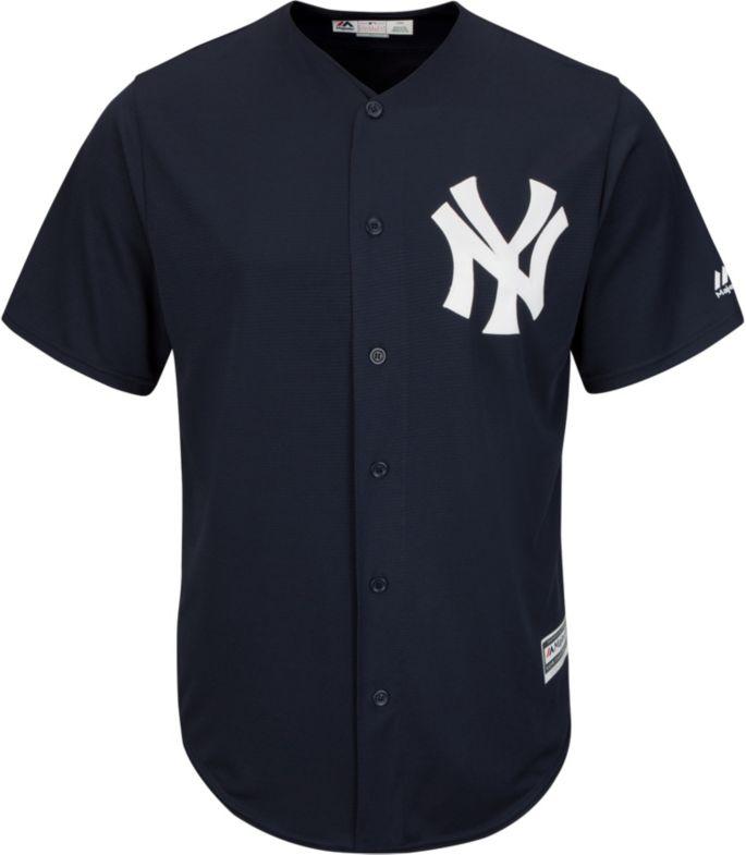 7113cf985df Majestic Men s Replica New York Yankees Aaron Judge  99 Cool Base Alternate  Navy Jersey 2