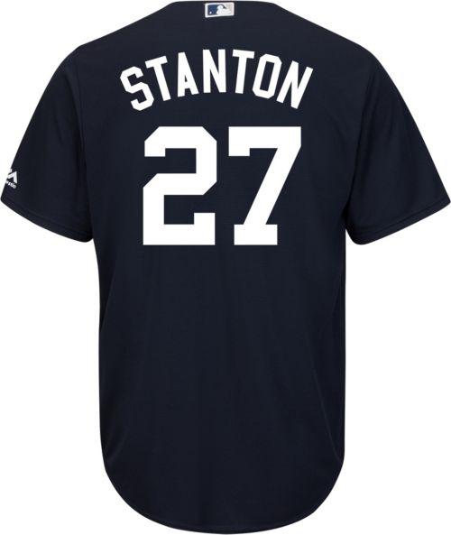 Majestic Men s Replica New York Yankees Giancarlo Stanton  27 Cool ... af120f65e9f