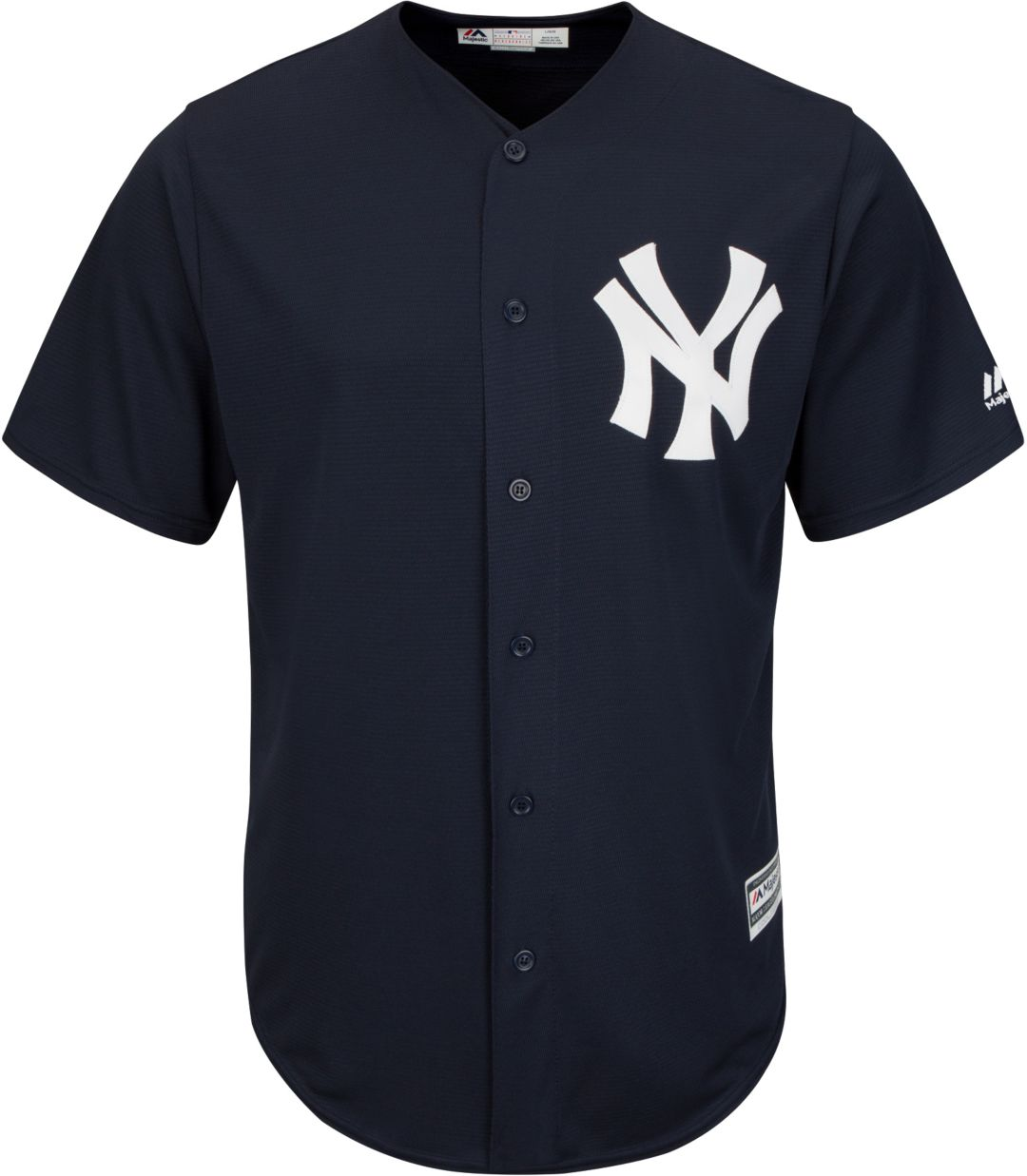 new products b0ce6 f459b Majestic Men's Replica New York Yankees Cool Base Alternate Navy Jersey