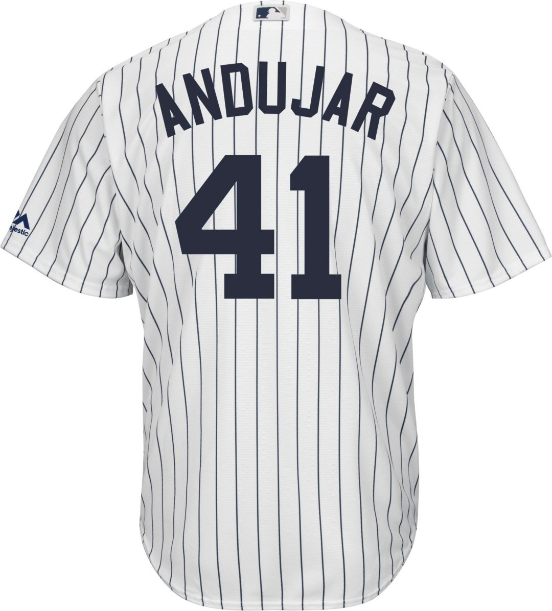 dadb6e75d Majestic Men's Replica New York Yankees Miguel Andujar #41 Cool Base Home  White Jersey. noImageFound. Previous. 1. 2. 3