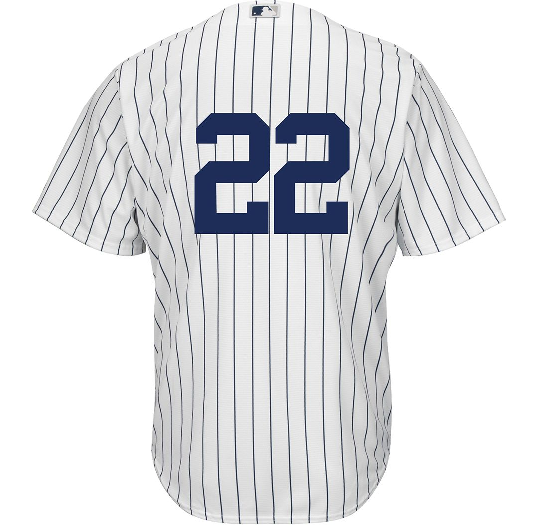 9ced561a Majestic Men's Replica New York Yankees Jacoby Ellsbury #22 Cool Base Home  White Jersey