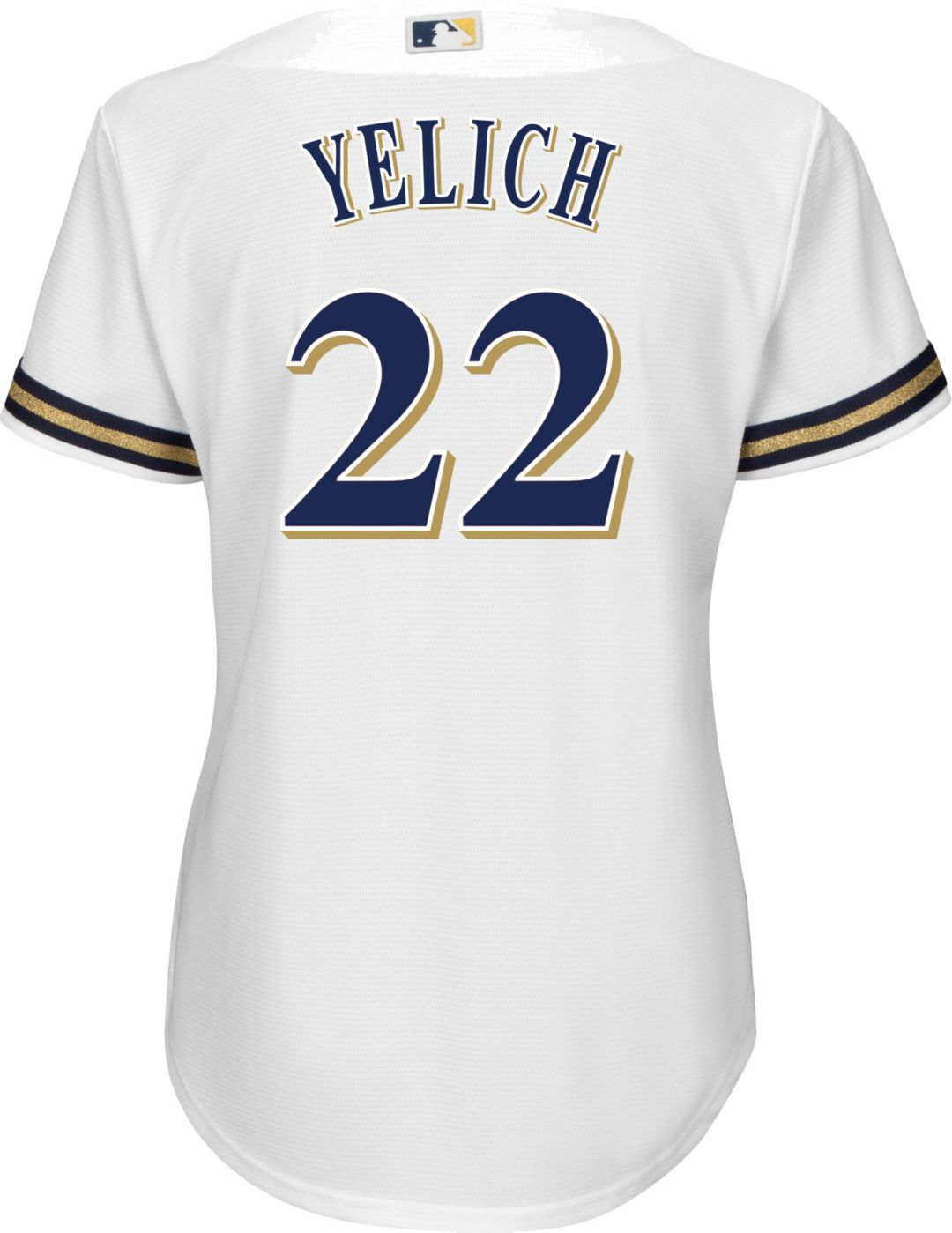 2c4cc66f Majestic Women's Replica Milwaukee Brewers Christian Yelich #22 Cool Base  Home White Jersey
