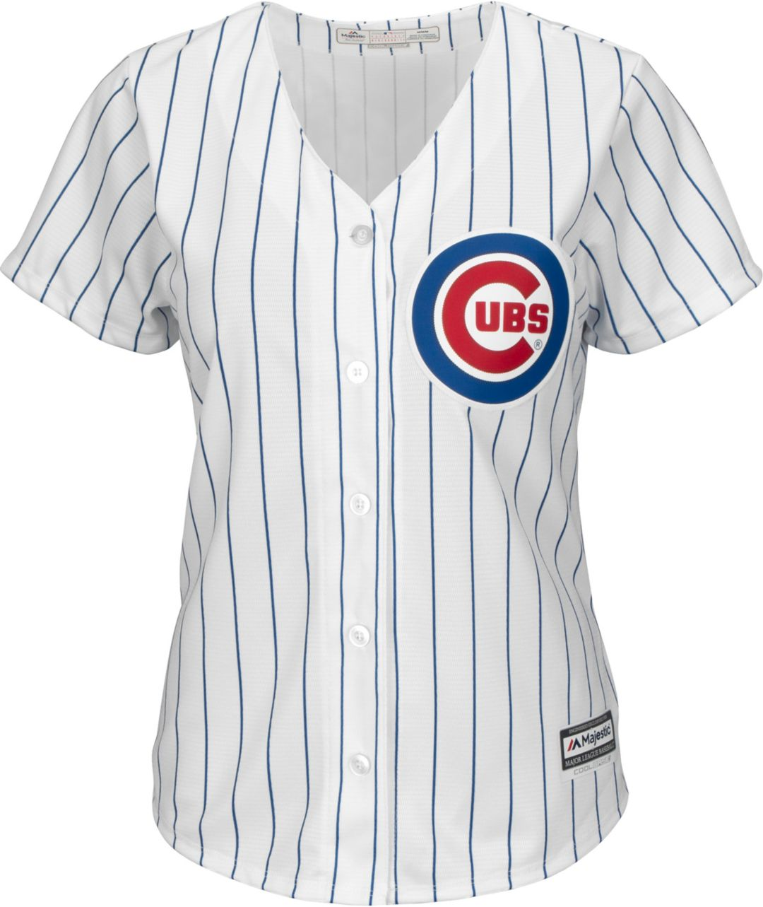 buy popular 1134f 6de9e Majestic Women's Replica Chicago Cubs Cool Base Home White Jersey