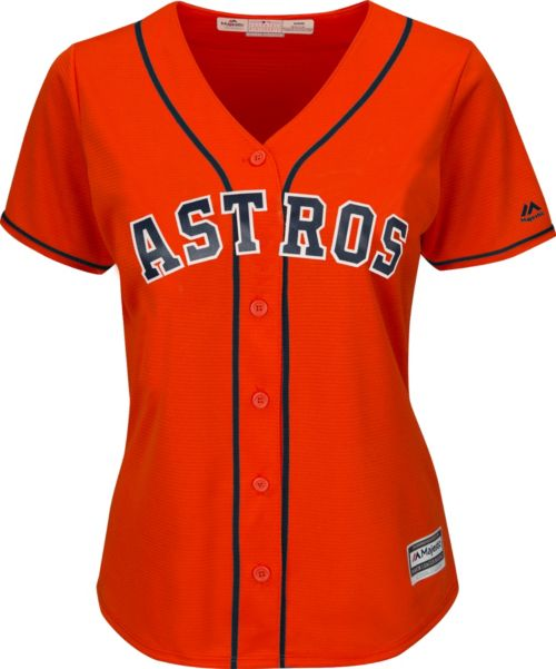 3a05e3441 Majestic Women s Replica Houston Astros Alex Bregman  2 Cool Base Alternate  Orange Jersey. noImageFound. Previous. 1. 2
