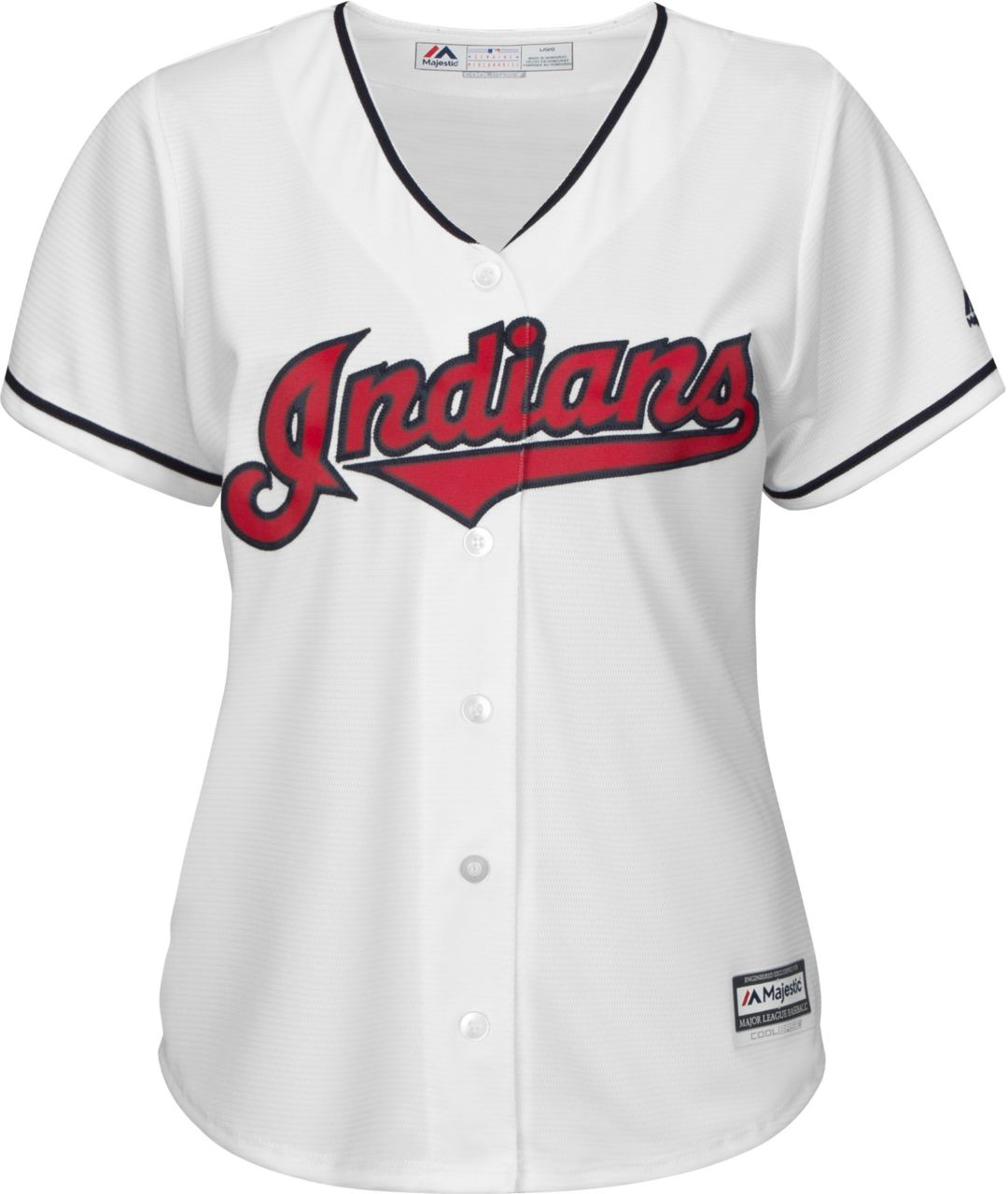 timeless design 76e79 26ed1 Majestic Women's Replica Cleveland Indians Jason Kipnis #22 Cool Base Home  White Jersey