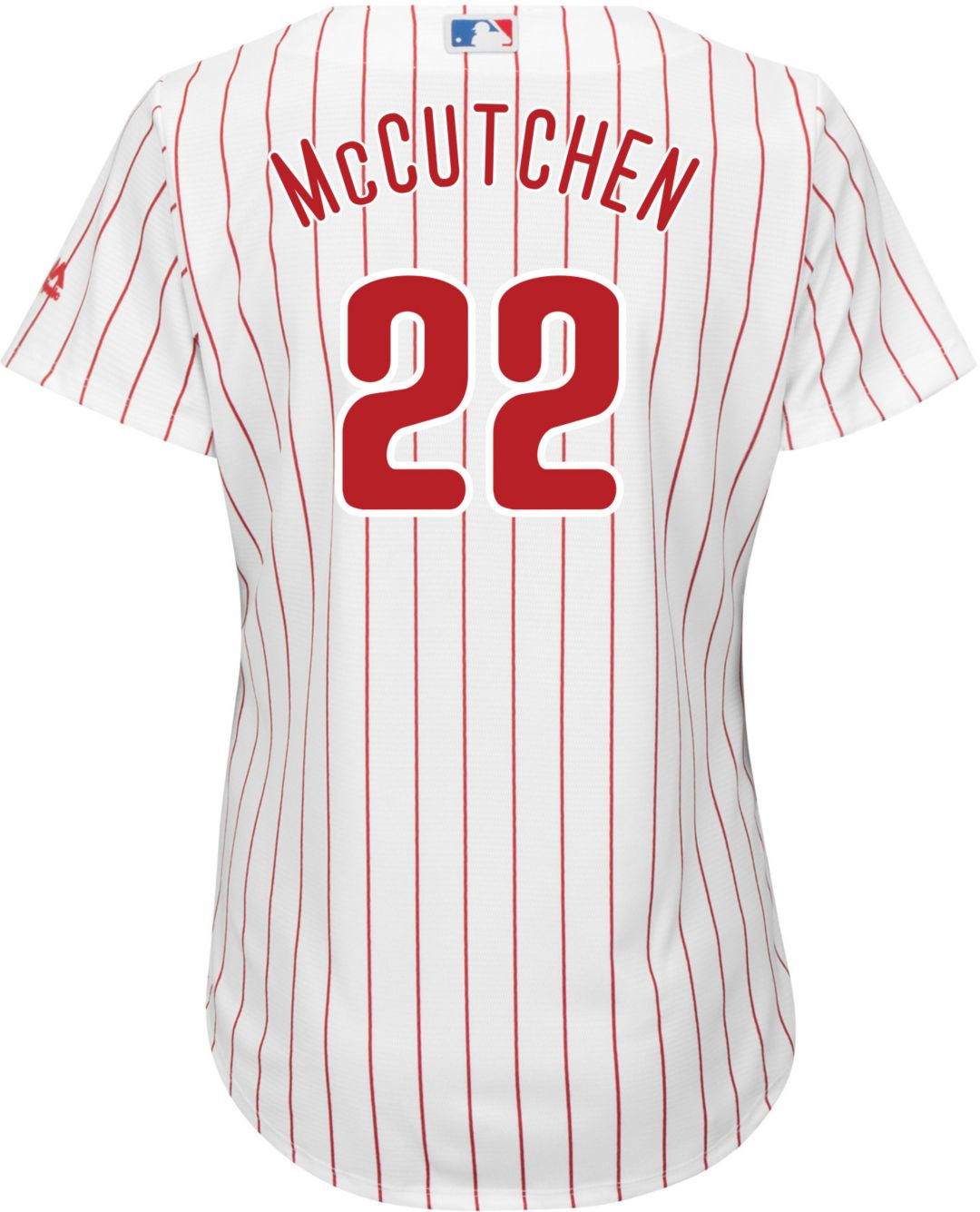 low priced 01abf 7aba8 Majestic Women's Replica Philadelphia Phillies Andrew McCutchen #22 Cool  Base Alternate Red Jersey