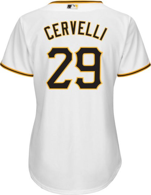 4b305435fd5 Majestic Women s Replica Pittsburgh Pirates Francisco Cervelli  29 Cool Base  Home White Jersey. noImageFound. Previous. 1. 2. 3
