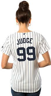 Majestic Women's Replica New York Yankees Aaron Judge #99 Cool Base Home White Jersey product image