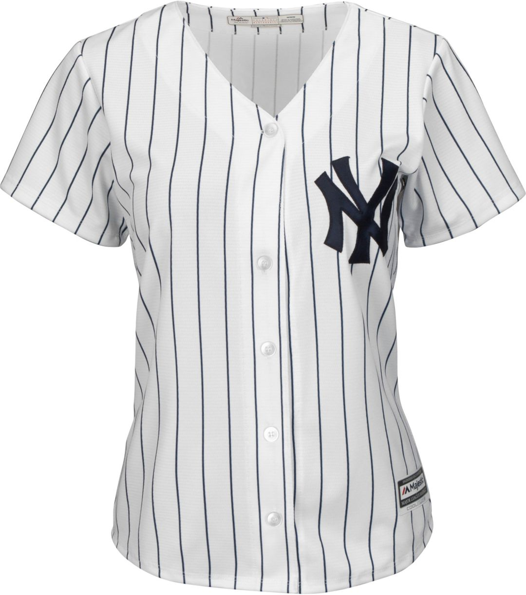 reputable site b255b d60ed Majestic Women's Replica New York Yankees Cool Base Home White Jersey