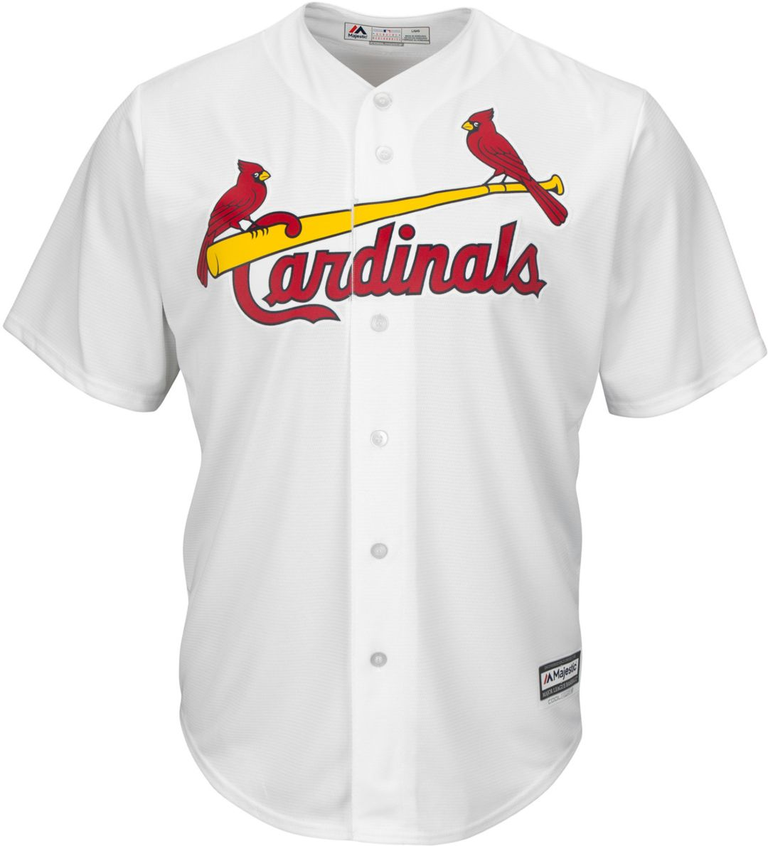 check out 8dbf8 7fd72 Majestic Men's Replica St. Louis Cardinals Yadier Molina #4 Cool Base Home  White Jersey