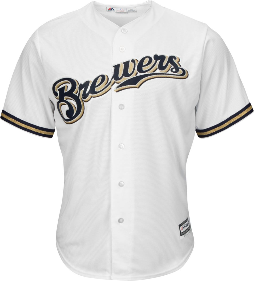 f6295021f97 Majestic Youth Custom Cool Base Replica Milwaukee Brewers Home White Jersey  2