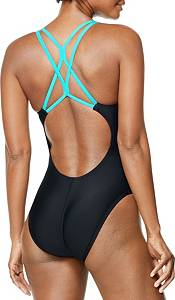 Speedo Women's Diagonal Colorblock One Piece Swimsuit product image