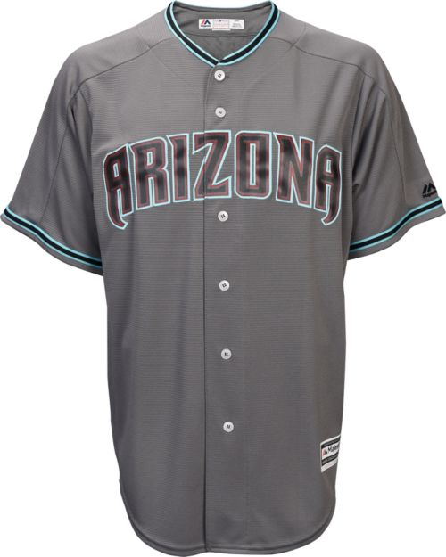415103061 Majestic Men s Replica Arizona Diamondbacks Zack Greinke  21 Cool Base  Alternate Road Grey Jersey