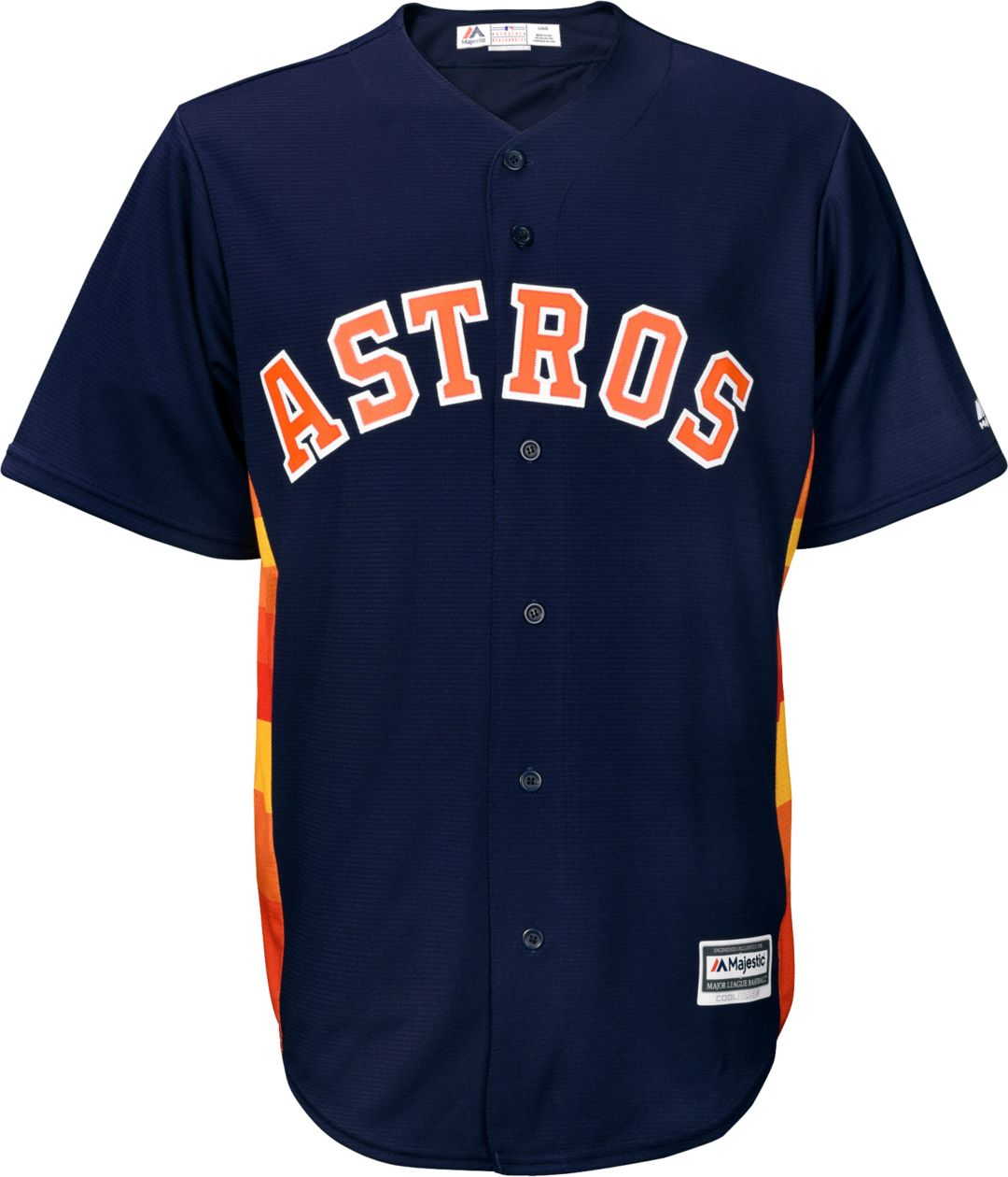 the latest d9dbe 9050c Majestic Men's Replica Houston Astros Carlos Correa #1 Cool Base Alternate  Navy Jersey