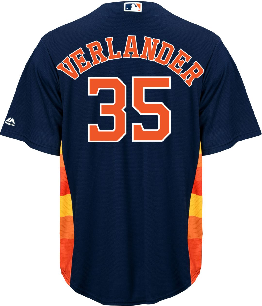 wholesale dealer ed631 3558e Majestic Men's Replica Houston Astros Justin Verlander #35 Cool Base  Alternate Navy Jersey