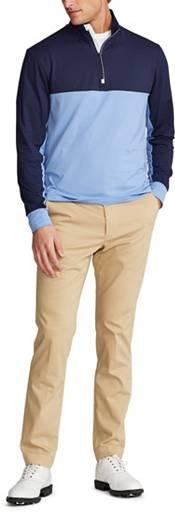 Ralph Lauren Men's Peach Jersey 1/4 Zip Golf Pullover product image