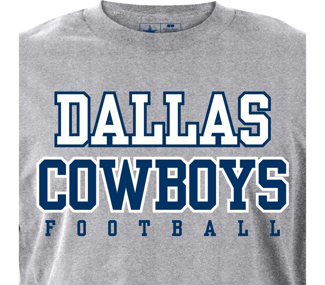 29adc136 Dallas Cowboys Merchandising Men's Practice Grey T-Shirt | DICK'S ...