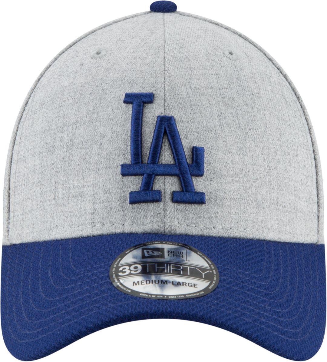 7904e6864daab5 New Era Men's Los Angeles Dodgers 39Thirty Change Up Redux Grey Stretch Fit  Hat