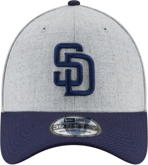 low priced 21d45 19e5e New Era Men s San Diego Padres 39Thirty Change Up Redux Grey Stretch Fit Hat.  noImageFound. Previous. 1. 2