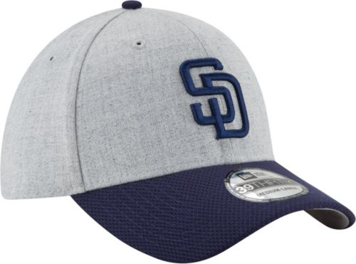 huge selection of 96f2c 529ee New Era Men s San Diego Padres 39Thirty Change Up Redux Grey Stretch Fit Hat.  noImageFound. Previous. 1. 2. 3