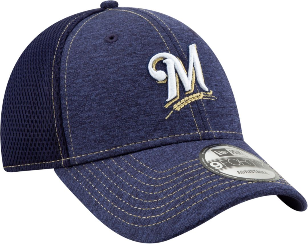 size 40 6b761 02fba New Era Youth Milwaukee Brewers 9Forty Team Tread Adjustable Hat.  noImageFound. Previous. 1. 2. 3