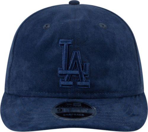 064561b8 New Era Men's Los Angeles Dodgers 9Fifty Suede Retro Navy Adjustable  Snapback Hat. noImageFound. Previous. 1. 2