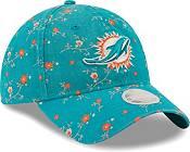 New Era Women's Miami Dolphins Aqua Blossom Adjustable Hat product image