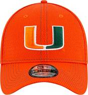 New Era Men's Miami Hurricanes Green Sideline Road 39Thirty Stretch Fit Hat product image