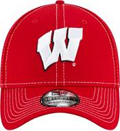 New Era Men's Wisconsin Badgers Red Sideline Road 39Thirty Stretch Fit Hat product image