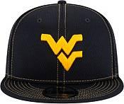 New Era Men's West Virginia Mountaineers Blue Sideline Road 9Fifty Adjustable Snapback Hat product image