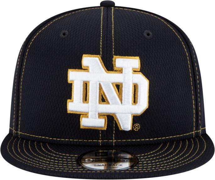 details for best service new design New Era Men's Notre Dame Fighting Irish Navy Sideline Road 9Fifty ...